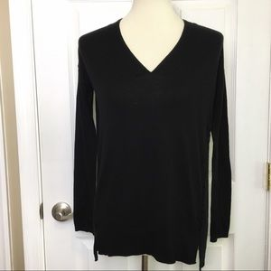 LUCKY BRAND  Black V-Neck Pullover Sweater Small